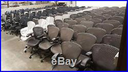 Herman Miller Aeron Office Chairs, Carbon (Black), Excellent Condition