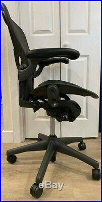 Herman Miller Aeron Office Desk Chair Size C (Large) Posturefit Fully Loaded