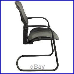 Herman Miller Aeron Office Side Guest Waiting Room Chair Graphite Black Mesh
