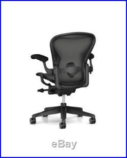 Herman Miller Aeron Remastered Chair, Size B, All Features, Adjustable Lumbar