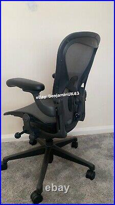Herman Miller Aeron Remastered Chair Size B Graphite Computer Desk Chair