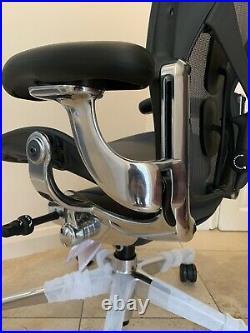 Herman Miller Aeron Remastered Chair Size B POLISHED ALUMINIUM 2020 Model