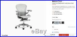 Herman Miller Aeron (Remastered) Mineral / Satin Aluminum Graphite / Graphite
