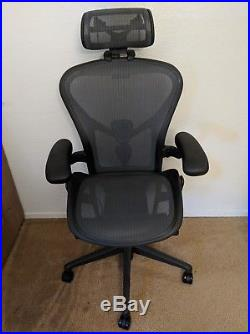 Herman Miller Aeron Remastered Fully Loaded With Headrest