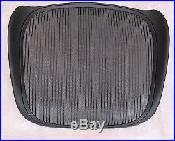 Herman Miller Aeron Seat Graphite Frame With Gray Mesh Size B