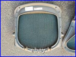 Herman Miller Aeron Seat Pan and Seat Back Graphite with Green Mesh Size B