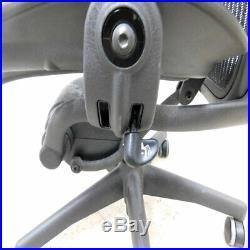Herman Miller Aeron Series Size B Office Chair Black Missing Tilt Knob AS/IS