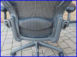 Herman Miller Aeron Size B Black Fully Loaded Refurbished Brand New Parts Ex Con