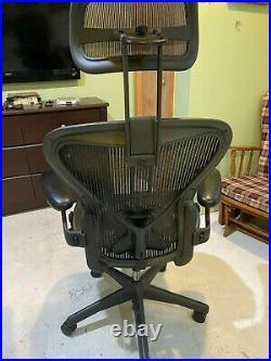 Herman Miller Aeron Size B with Posturefit and Headrest