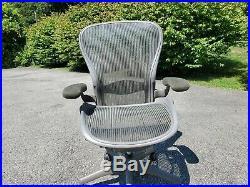 Herman Miller Aeron Size C (Large) Executive Office Chair Adjustable Lumbar