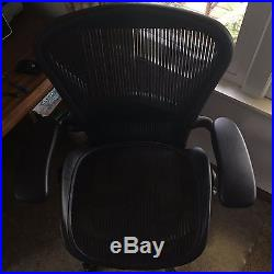 Herman Miller Aeron Size C Office Chair Fully Optioned Six Way Adjustable Arms
