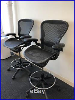 Herman Miller Aeron Stool chair, Size B, All Features, Plus Adjustable Posture