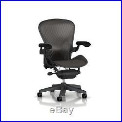 Herman Miller Aeron Tilt Limiter Task Chair, Adjustable Vinyl Arms. 2DAY SHIP