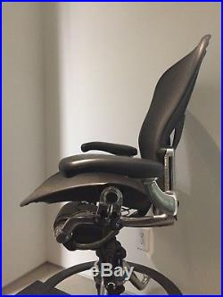 Herman Miller Aeron Work Stool Fully Adjustable Posture Fit Aluminum Base Size B