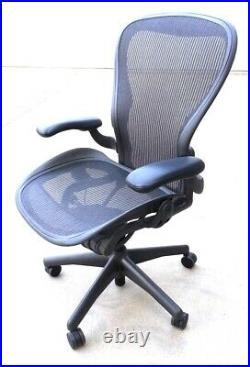 Herman Miller Aeron chair mesh black Size C (large)
