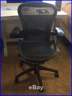 Herman Miller Aeron office chair, graphite, size B, Fully adjustable
