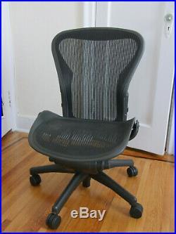 Herman Miller Armless Aeron Office Chair (Size B, Black)