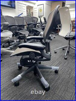 Herman Miller Brown Mesh Classic Fully-Loaded Size B Lumbar Support Aeron Chair
