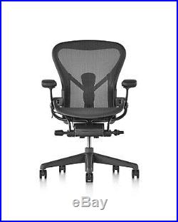 Herman Miller C Size Aeron Chair, Graphite