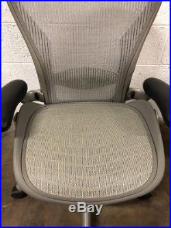 Herman Miller Classic Aeron Chair Fully Adjustable Titanium Base Size B