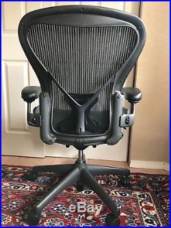 Herman Miller Classic Aeron Chair Size B Basic Model Graphite Frame