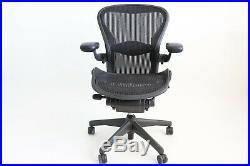 Herman Miller Classic Aeron Chair size B (medium) Graphite, Fully Adjustable