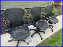 Herman Miller Classic Aeron Desk Chair Black Ergonomic 12 Available