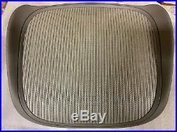 Herman Miller Classic Aeron Replacement Seat Size C (Large), 3V03 Quartz Mesh