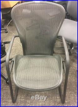 Herman Miller Classic Aeron Side Chair Size B Black/Grey pellicle mesh