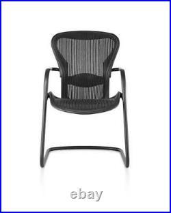 Herman Miller Classic Aeron Side Chair Size B black pellicle mesh