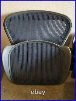 Herman Miller Classic Aeron Size B Blue Mesh Seat Pan and Back. Both