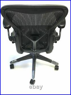 Herman Miller Classic Fully-Loaded Black Mesh Size B PostureFit Aeron chair
