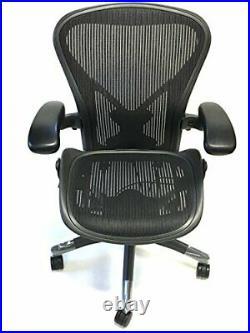 Herman Miller Classic Fully-Loaded Carbon (Black) Size B Posturefit Aeron Chair