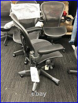 Herman Miller Classic Fully-Loaded Carbon Mesh Size A PostureFit Aeron chair