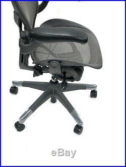 Herman Miller Classic Fully-Loaded Gray Mesh Size B PostureFit Aeron chair
