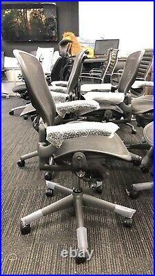 Herman Miller Classic Size C With Tilt Limiter and Lumbar Support Aeron Chair