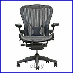 Herman Miller Fully Loaded Posture Fit Size B Aeron Chairs Black
