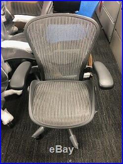 Herman Miller Fully-Loaded Size B Grey Mesh Lumbar Support Aeron Chair