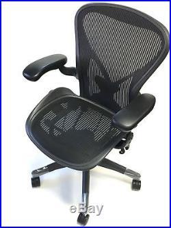 Herman Miller Fully-adjustable Size B Posturefit Aeron Chair