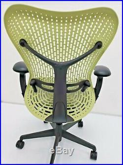 Herman Miller MIRRA Ergonomic Fully Adjustable Chair Citron Graphite Aeron