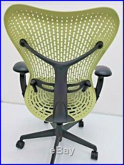 Herman Miller MIRRA ergonomic Fully Adjustable chair Citron Graphite aeron eames