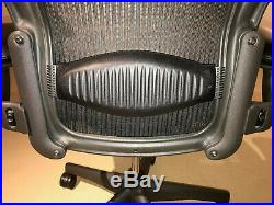 Herman Miller, Posturefit Aeron Chair, Fully Loaded, Graphite Black