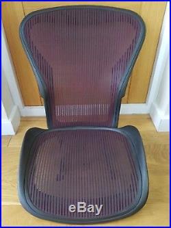 Herman Miller Red Aeron Chair Mesh Size B Back and Seat Pan Frame Set