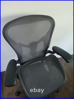 Herman Miller Remastered Aeron Size B Office Chair Fully Loaded PostureFit