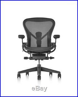 Herman Miller Size C Aeron Chair, Graphite