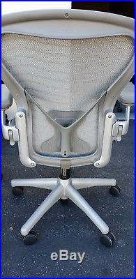 Herman Miller TITANIUM Color PostureFit Size B AERON Chairs SLIGHTLY USED