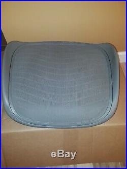 Herman miller Aeron Seat Pan Size C Titanium Tuxedo Pattern