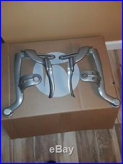 Herman miller Aeron Titanium silver Arm Yoke Complete Set