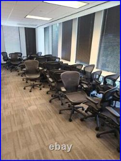 Look Herman Miller Aeron Chair Size A, B, C Fully Adjustable -Good Condition