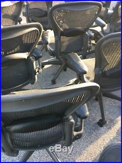 Lot of 10 Aeron Herman Miller Office Desk Chairs